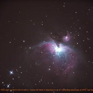 The Orion Nebula with a DSLR