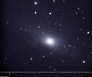 Andromeda with a dslr